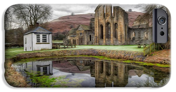 13th Century iPhone Cases - The Welsh Abbey iPhone Case by Adrian Evans