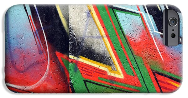 Abstract Expressionism Photographs iPhone Cases - The west side of the wall iPhone Case by Stefan Kuhn