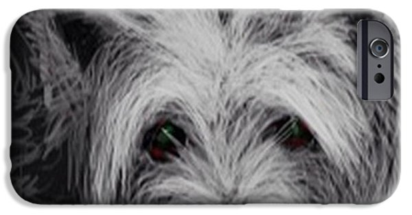 Westie Digital iPhone Cases - The Westie. 1.5 iPhone Case by Audrey Hynd-Gaw