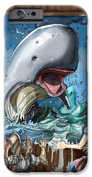 Baba Paintings iPhone Cases - The Whale iPhone Case by Reynold Jay