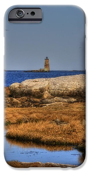 New England Lighthouse iPhone Cases - The Whaleback Lighthouse iPhone Case by Joann Vitali