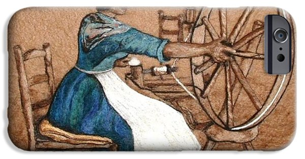 Needle Tapestries - Textiles iPhone Cases - The Wheel iPhone Case by Bonnie Nash