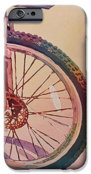 Wheel iPhone Cases - The Wheel in Color iPhone Case by Jenny Armitage