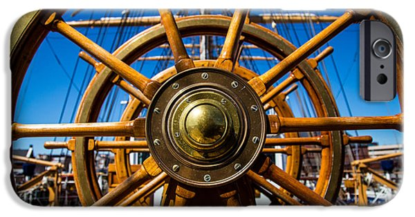 Tall Ship iPhone Cases - The Wheel iPhone Case by Karol  Livote