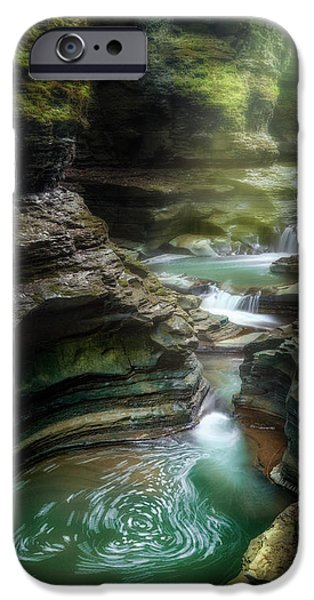 Watkins Glen iPhone Cases - The Whirlpool iPhone Case by Bill  Wakeley