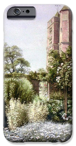White House Pastels iPhone Cases - The White Garden iPhone Case by Rosemary Colyer