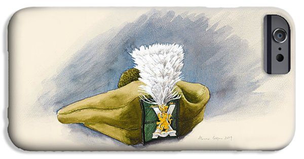 Regiment iPhone Cases - The White Hackle iPhone Case by Alison Cooper