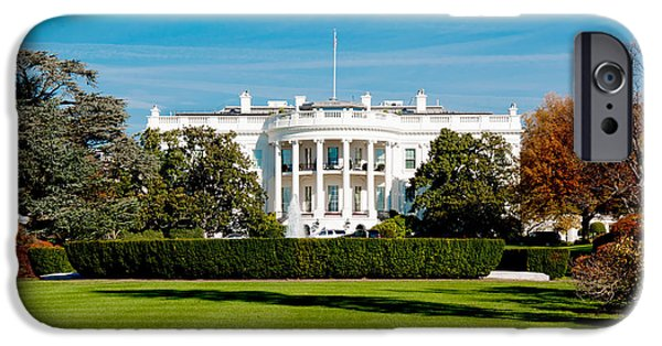 The White House Photographs iPhone Cases - The White House iPhone Case by Greg Fortier