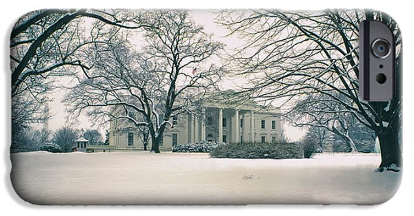 White House iPhone Cases - The White House in Winter iPhone Case by Mountain Dreams