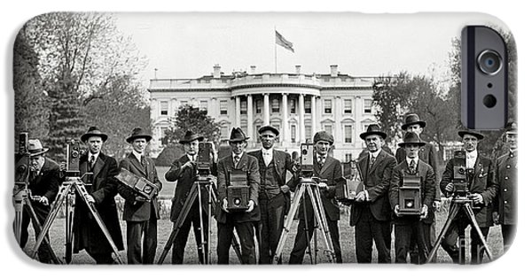 Newspaper iPhone Cases - The White House Photographers iPhone Case by Jon Neidert