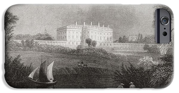 President iPhone Cases - The White House, Washington D.c., United States Of America In 1860.  From Edward Vii His Life iPhone Case by Bridgeman Images