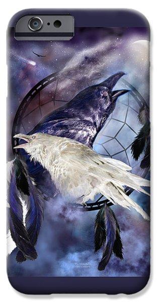 Carol Cavalaris iPhone Cases - The White Raven iPhone Case by Carol Cavalaris