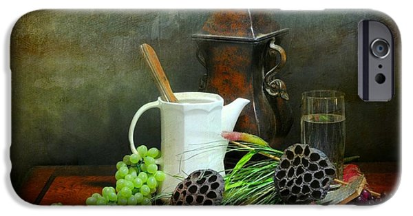 Still Life With Pitcher iPhone Cases - The White Spout iPhone Case by Diana Angstadt