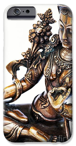 Bodhisattva iPhone Cases - The White Tara iPhone Case by Tim Gainey
