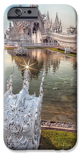 Glass Reflecting iPhone Cases - The White Temple iPhone Case by Adrian Evans