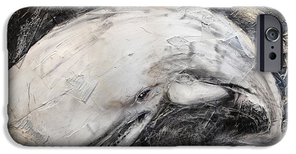 Narrative iPhone Cases - The White Whale iPhone Case by David Finley