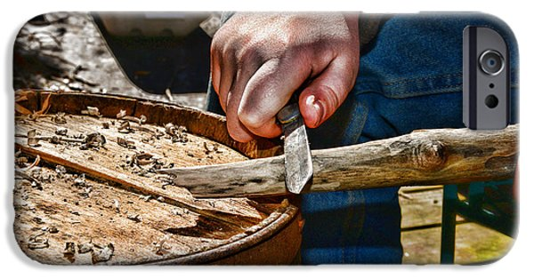 Wood Carving iPhone Cases - The Whittler iPhone Case by Paul Ward