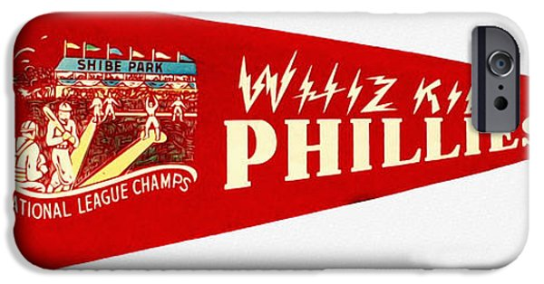 Shibe Park iPhone Cases - The Whiz Kids iPhone Case by Bill Cannon
