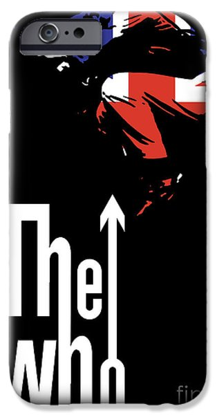 Famous Musician iPhone Cases - The Who No.01 iPhone Case by Caio Caldas