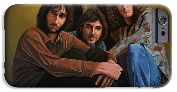 Power Paintings iPhone Cases - The Who iPhone Case by Paul  Meijering