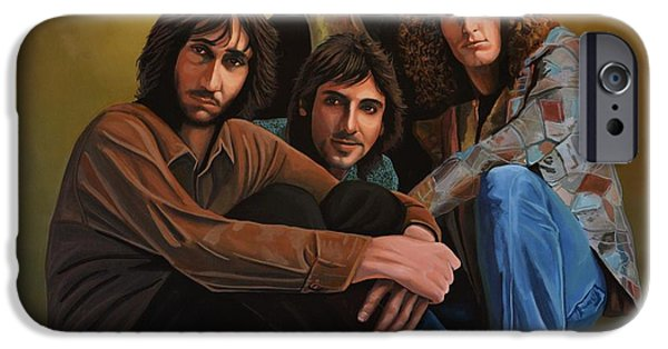 Celebrities Portrait iPhone Cases - The Who iPhone Case by Paul Meijering