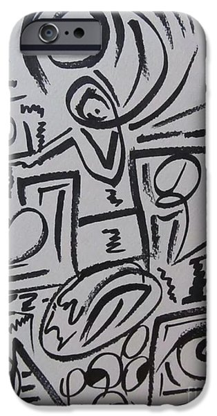 Abstractions Drawings iPhone Cases - The Whole Truth. iPhone Case by Hilton  Woodside