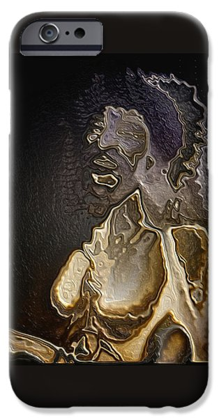 Abstract Digital Art iPhone Cases - Torquemada portrait By Quim Abella iPhone Case by Joaquin Abella