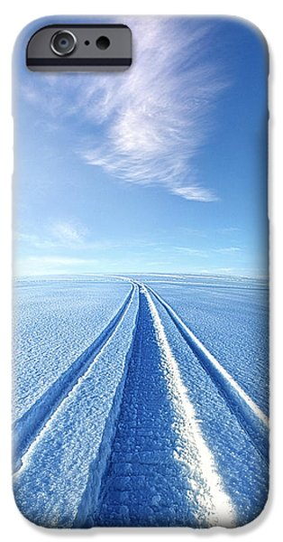 Frozen Lake iPhone Cases - The Wild Blue Yonder iPhone Case by Phil Koch