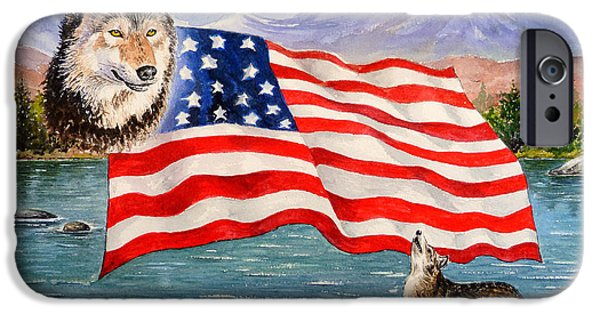 4th July Paintings iPhone Cases - The Wildlife Freedom collection 1 iPhone Case by Andrew Read