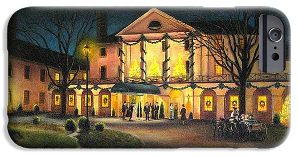 Yorktown Virginia iPhone Cases - The Williamsburg Inn at Christmas iPhone Case by Gulay Berryman