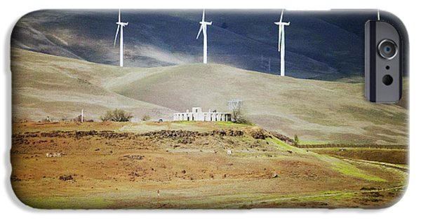 Wwi iPhone Cases - The Wind Behind Maryhill Stonehenge iPhone Case by Edward Hawkins II