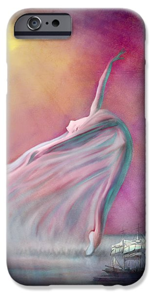 Ballet Dancers iPhone Cases - The Wind Fairy iPhone Case by Angela A Stanton