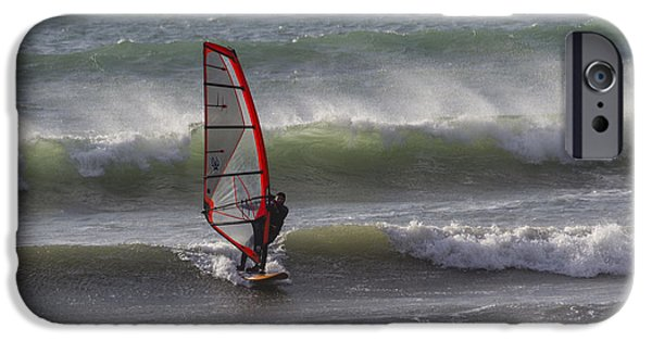 Sail Board iPhone Cases - The Wind Surfer iPhone Case by Brian Roscorla
