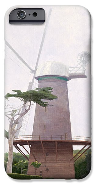 Leonard Filgate iPhone Cases - The Windmill iPhone Case by Leonard Filgate