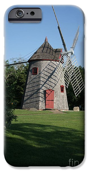Chatham iPhone Cases - The Windmill on Eastham Green iPhone Case by John Turek