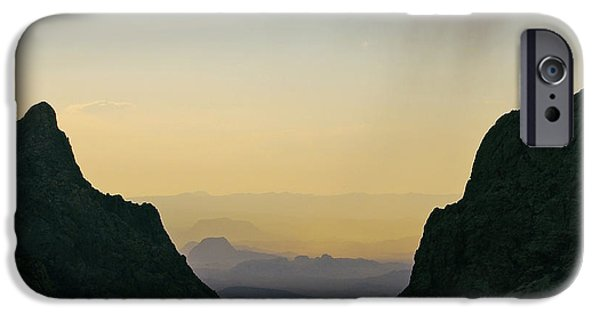 Raining iPhone Cases - The Window at Sunset in Chisos Mountains of Big Bend National Park Texas Square Format iPhone Case by Shawn O