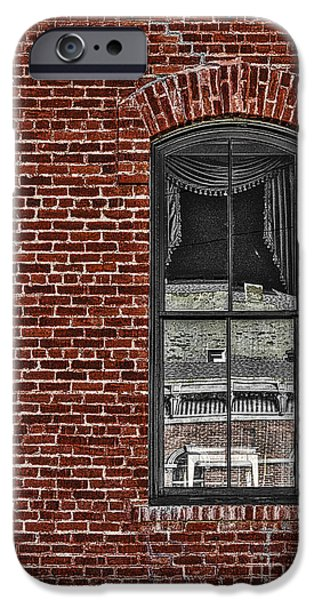 Town iPhone Cases - The Window  iPhone Case by Mitch Shindelbower