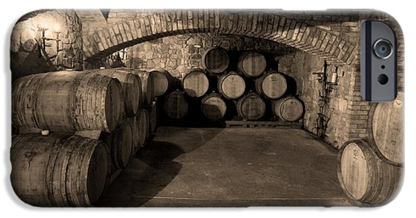 Red Wine iPhone Cases - The Wine Cave iPhone Case by Jon Neidert