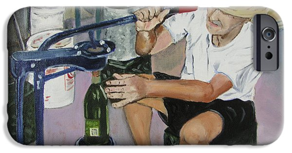Italian Wine Paintings iPhone Cases - The Wine Maker iPhone Case by Mary Capriole