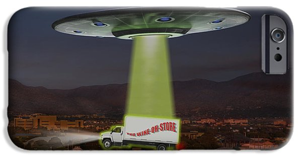 Ufo iPhone Cases - The Wine-OH-Store iPhone Case by Mike McGlothlen