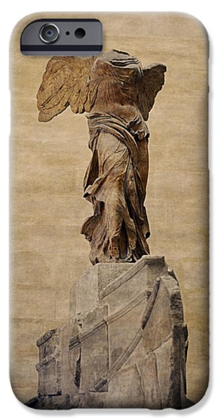 Goddess Of Liberty iPhone Cases - The Winged Victory Of Samothrace iPhone Case by Maria Angelica Maira