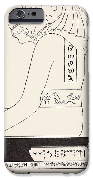 Animal Drawings iPhone Cases - The Wise Baviaan the dog-headed Baboon iPhone Case by Joseph Rudyard Kipling