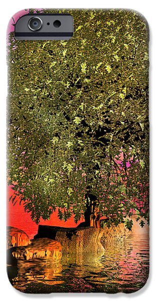 The Wishing Tree Two of Two iPhone Case by Betsy A  Cutler