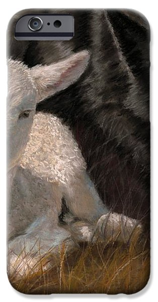 The Wolf and the Lamb iPhone Case by Sheri Gordon