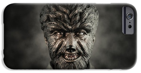 Wolf Pictures iPhone Cases - The Wolf Man - Lon Chaney Jr iPhone Case by Marco Oliveira