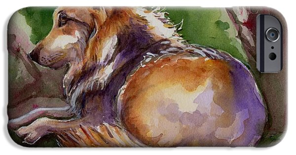 Coyote Art iPhone Cases - The Wolf Star iPhone Case by Maria