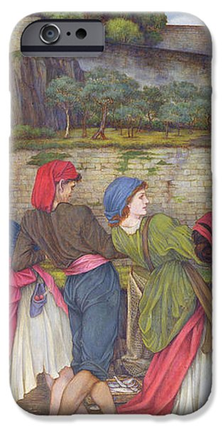 The Women of Sorrento iPhone Case by John Roddam Spencer Stanhope