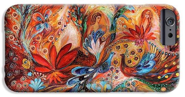 Flower Of Life iPhone Cases - The women of Tanakh Hava II iPhone Case by Elena Kotliarker