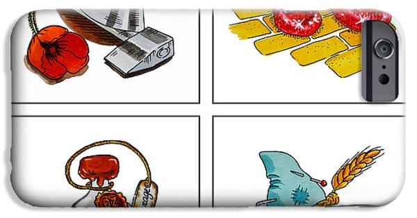 Brain Paintings iPhone Cases - The Wonderful Wizard Of Oz iPhone Case by Irina Sztukowski