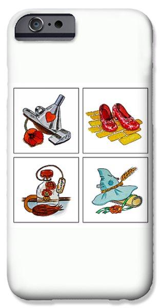 The Wonderful Wizard Of Oz iPhone Case by Irina Sztukowski